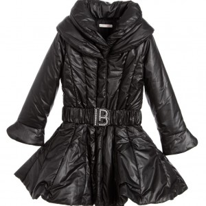 LAURA BIAGIOTTI Girls Black Padded Coat