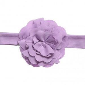 LEMON LOVES LAYETTE Baby Girls Lilac Pima 'Lily Pad' Headband