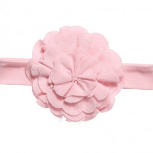 LEMON LOVES LAYETTE Baby Girls Pale Pink Pima 'Lily Pad' Headband
