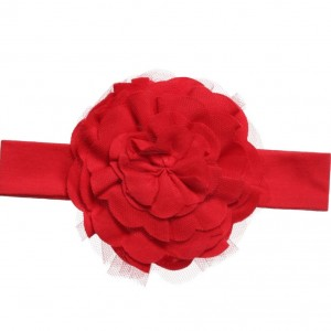 LEMON LOVES LAYETTE Baby Girls Red Pima 'Lily Pad' Headband