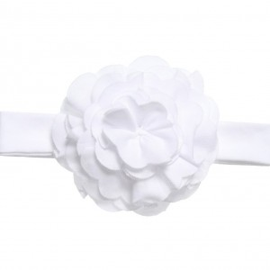 LEMON LOVES LAYETTE Baby Girls White Pima 'Lily Pad' Headband