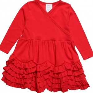 LEMON LOVES LAYETTE Red Pima Cotton 'Jada' Dress