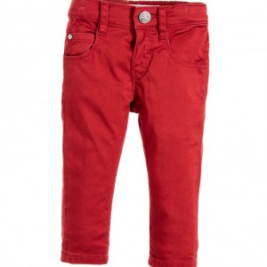LEVI'S Baby Girls Burgundy Red 'Pipa' Cotton Jeans