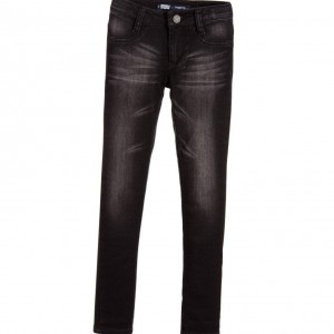 LEVI'S Girls Black Cotton '710' Super Skinny Jeggings