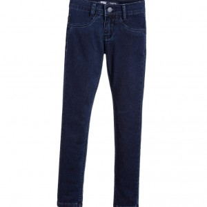 LEVI'S Girls Blue Cotton '710' Super Skinny Jeggings