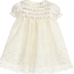 LITTLE DARLINGS OCCASION Baby Girls 'Jemima' Ivory Silk Christening Set