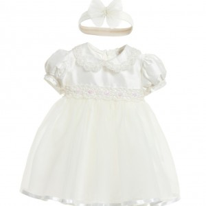 LITTLE DARLINGS OCCASION Ivory Silk & Tulle 'Tinkerbell' Dress