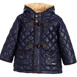 MAYORAL Baby Boys Navy Blue Quilted Hooded Jacket