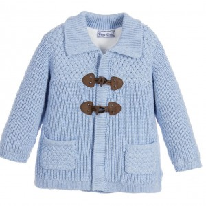 MAYORAL NEWBORN Baby Boys Blue Knitted Duffle Cardigan