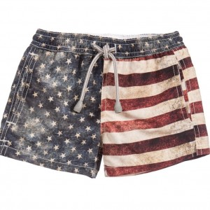 MC2 ST BARTH Boys American Flag Swim Shorts