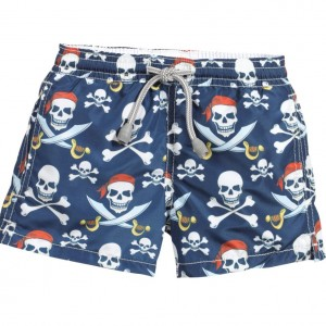 MC2 ST BARTH Boys Navy Blue Pirate Swim Shorts