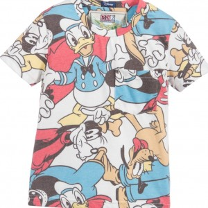 MC2 ST BARTH Disney Donald Duck, Goofy & Pluto Print T-Shirt