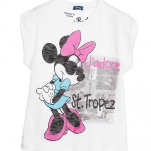 MC2 ST BARTH Girls White Minnie Mouse T-Shirt