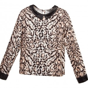 MISS GRANT Girls Leopard Print Blouse