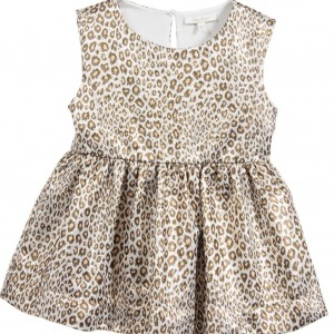 MISS GRANT Golden Leopard Print Sleeveless Blouse