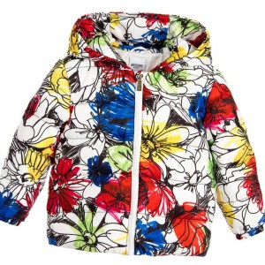 MOSCHINO Baby Girls Urban Graffiti Flower Down Padded Jacket