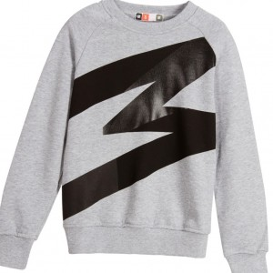 MSGM Boys Grey Jersey Sweatshirt with Black M
