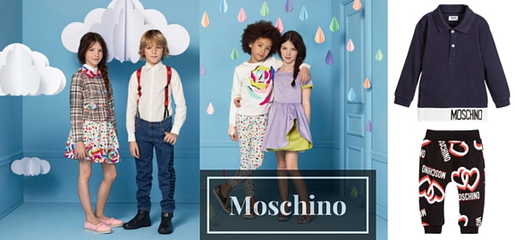 With pulling inspiration Moschino childrenswear helps feel stylish and trendy every day