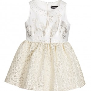PAESAGGINO Gold & Ivory 'Paris' Dress