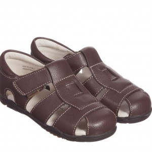PEDIPED FLEX (1-8YR) Brown Leather 'Sydney' Sandals