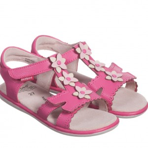 PEDIPED FLEX (1-8YR) Girls Pink Leather 'Sidra' Sandals