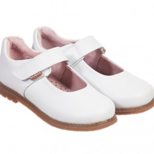 PEDIPED FLEX (1-8YR) Girls White Leather 'Ann' Shoes