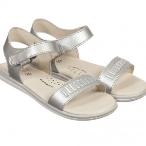 PEDIPED FLEX (1-8YR) Silver Leather 'Lisa' Sandals