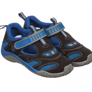 PEDIPED ORIGINALS (0-24MTH) Boys Black & Blue 'Stingray' Trainers