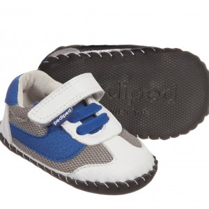PEDIPED ORIGINALS (0-24MTH) Boys Blue & White 'Cliff' Pre-Walker Trainers