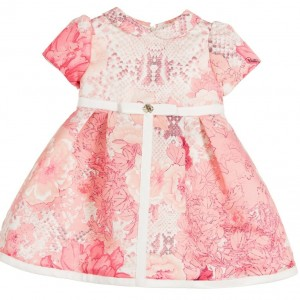 ROBERTO CAVALLI Baby Girls Pink 'Kyoto' Floral Satin Dress