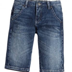 ROBERTO CAVALLI Boys Blue Cotton Denim Bermuda Shorts