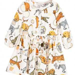 STELLA MCCARTNEY KIDS Baby Girls Ivory 'Fleur' Circus Print Dress