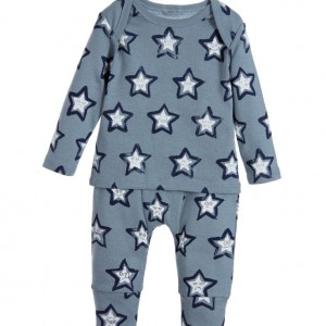 STELLA MCCARTNEY KIDS Blue Cotton 'Buster & Macy' 2 Piece Babysuit