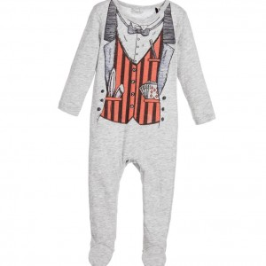 STELLA MCCARTNEY KIDS Blue Cotton Jersey 'Twiddle' Babygrow