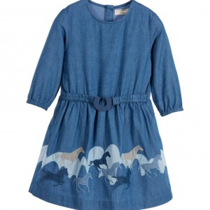 STELLA MCCARTNEY KIDS Blue Organic Chambray 'Skippy' Dress