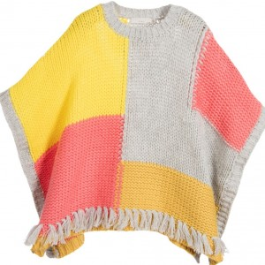 STELLA MCCARTNEY KIDS Girls Wool Knitted 'Agnes' Cape