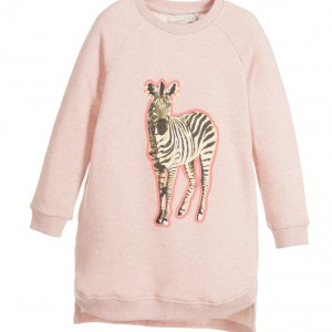 STELLA MCCARTNEY KIDS Pink 'Saphire' Cotton Sweatshirt Dress