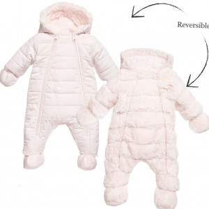 TARTINE ET CHOCOLAT Baby Girls Pink Reversible Snowsuit