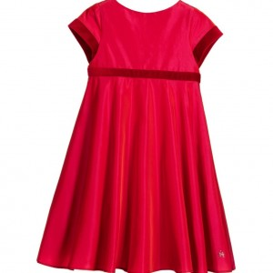 TARTINE ET CHOCOLAT Red Taffeta & Velvet Dress