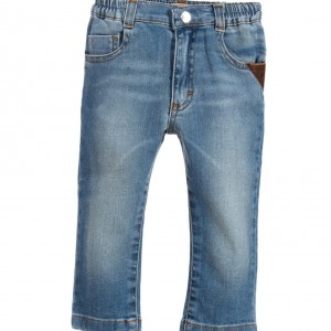 TRUSSARDI Baby Boys Faded Blue Denim Jeans