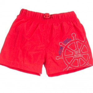 TUTTO PICCOLO Boys Red Swim Shorts