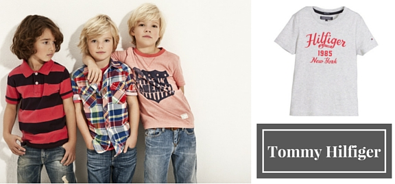Tommy Hilfiger designer wear for children features cool and rather unusual design which helps catch up with time