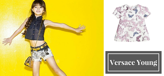 Versace Young collection of goods for kids