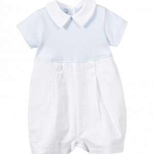 ALETTA Baby Boys Blue & White Shortie with Gift Box