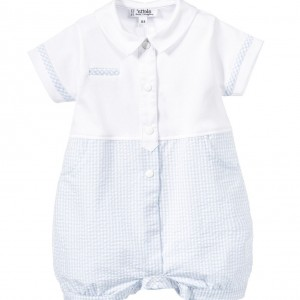 ALETTA Baby Boys Pale Blue Shortie with Gift Box