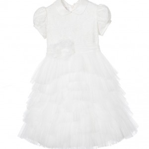 ALETTA Ivory Lace & Tulle Dress