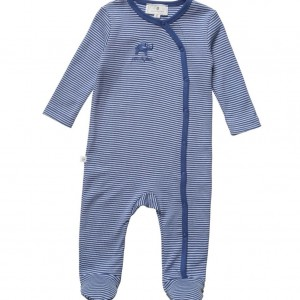 BELLY BUTTON Blue Striped Jersey Babygrow
