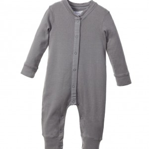 BELLY BUTTON Grey Organic Cotton Babygrow