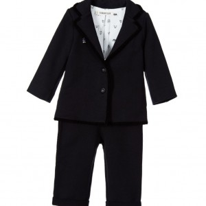 BILLYBANDIT Baby Boys Black Cotton Jersey Suit
