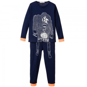 BILLYBANDIT Boys Navy Blue Cotton Jersey Pyjamas